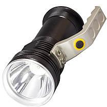 Фонарь Lomon 1003 Черный с удобной ручкой LED мощный эргономичная ручка, фото 2