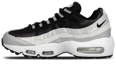 Женские и мужские кроссовки в стиле Nike Air Max 95 QS Metallic Platinum & Noir