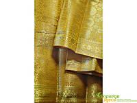Классическое сари Raj Rubi Saree-2 песочно-горчичное, Аюрведа Здесь