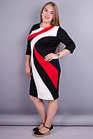 Клавдия. Шикарное платье для женщин super size. Красный.