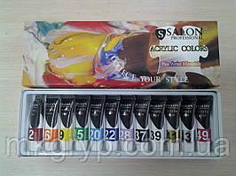 Набор красок  для росписи ногтей Salon Professional 12 шт Х 12мл.