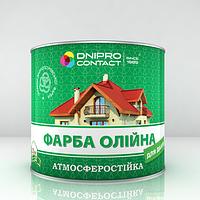 Масляная краска МА-15 для крыш Зелёная Днепр-Контакт 2,5кг