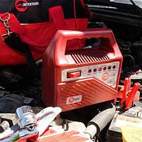 Автомобильное зарядное устройство 6В-12В со светодиодными индикаторами Intertool AT-3012