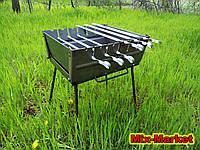Раскладной мангал - чемодан на 6 шампуров + ПОДАРОК