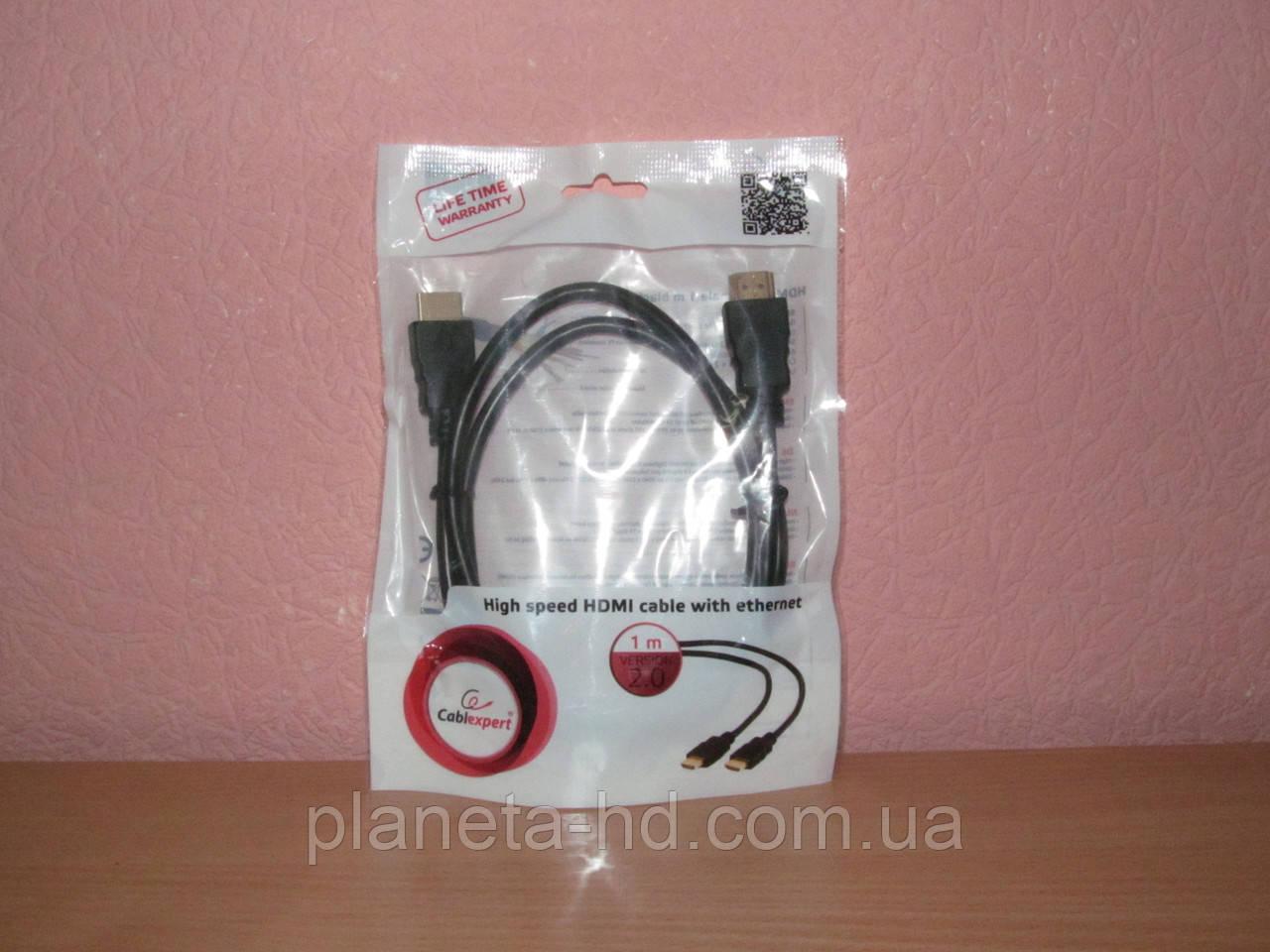 Кабель HDMI to HDMI 1.0m Cablexpert (CC-HDMI4-1M) HDMI (Type A), HDMI (Type A), 1 м
