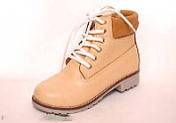 Женские ботинки зимние в стиле Тимберленд коричневые