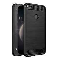 Чехол Carbon для Huawei P8 lite 2017 / P9 lite 2017 бампер Black