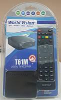 Цифровой DVB-T/T2 ТВ эфирный приемник приставка тюнер World Vision T61M в мини корпусе