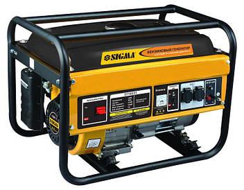 Генератор бензиновый 2.5/2.8кВт 4-х тактный ручной запуск sigma 5710221