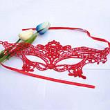 Маска для карнавала женская красная, фото 3