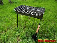 Раскладной мангал - чемодан на 12 шампуров + ПОДАРОК