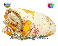 Детский комплект: одеяло и подушка-синтеон- желтый