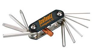 Ключ складаний 11 інструментів Compact 11 ICE TOOLZ 95A5