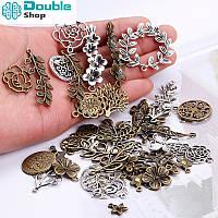 Набор для изготовления украшений DIY листья 100шт. шармики