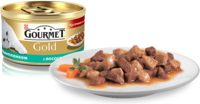 Gourmet Gold (Гурмет Голд) - Кусочки в подливке с лососем и цыпленком для котов 85 гр