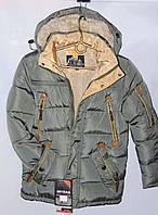 Подростковая куртка для мальчика р.128-152 Зима