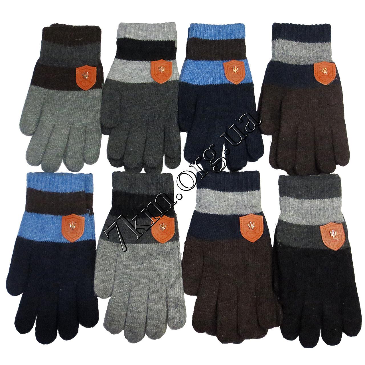 Перчатки подростковые одинарные для мальчиков 12-15 лет Оптом 5566 XL
