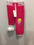 Теплые велюровые штаны для девочки, фото 2