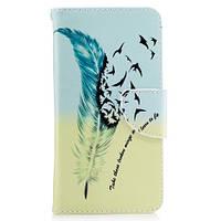 Чехол книжка TPU Wallet Printing для Motorola Moto G5 XT1676 Feather Pattern