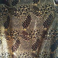 Мебельный велюр ширина ткани 160 см сублимация леопард, фото 1