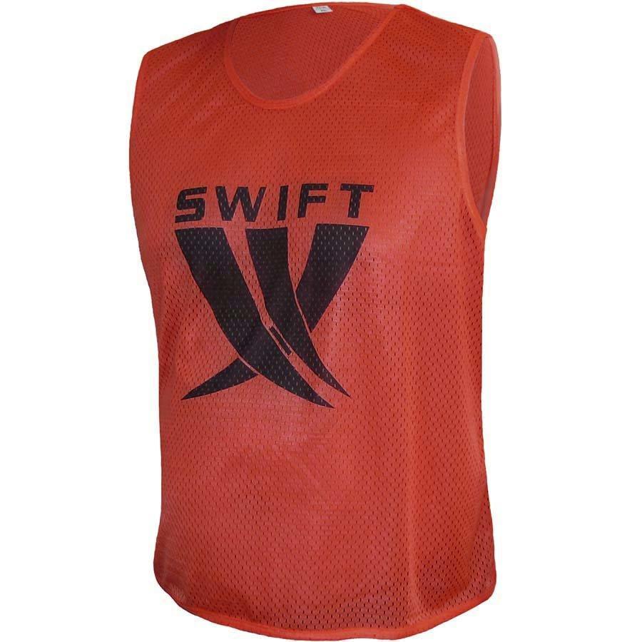 Манишка футбольная Swift красная (сетка)