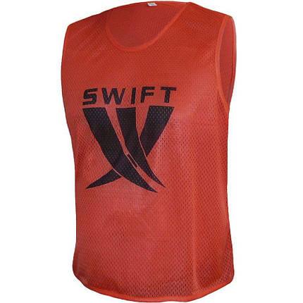 Манишка футбольная Swift красная (сетка), фото 2