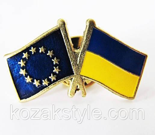 """Значок """"Україна-Євросоюз"""""""