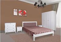 Кровать Севилья ( белая ) дерево ольха