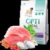 Optimeal сухой корм для собак малых пород с уткой 4 кг