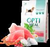 Optimeal сухой корм для собак средних пород с индейкой 4 кг