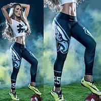 Женские спортивные лосины Американский футбол, фото 1