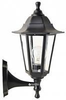 Светильник парковый НС06 черный матовое стекло