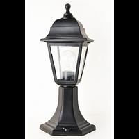 Светильник парковый НГ04 черный матовое стекло
