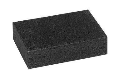 Губка шлифовальная крупнозернистая 100*70*25мм (зерно 40/60)