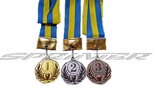 """Медаль с лентой """"Украина"""". 5,0 см  (1 место)"""
