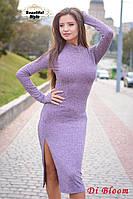 Женское платье из рибаны с разрезом, фото 1
