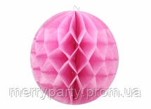 Шар соты из тишью 20 см розовый