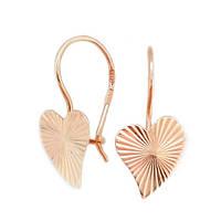 Сережки Золотые сердечко
