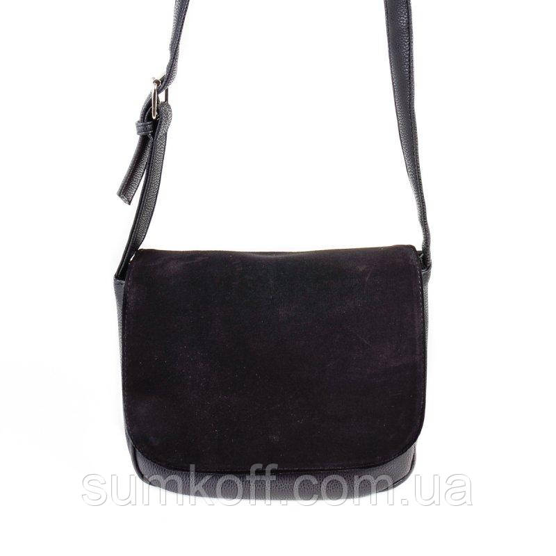 0eb7daff5390 Замшевая сумка М52-47/замш через плечо кросс боди черная: продажа ...