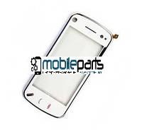 Оригинальный Сенсор (Тачскрин) для Nokia N97 mini (С рамкой) (Белый)