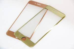 3D color tempered glass for iPhone 7, gold
