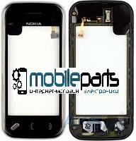 Оригинальный Сенсор (Тачскрин) для Nokia N97 mini (С рамкой) (Черный)