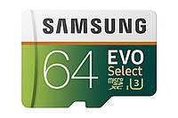 Карта памяти Samsung 64GB 100MB/s (U3) MicroSDXC EVO Select Memory Card