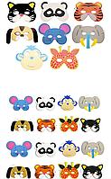 Детские маски для утренника или праздника животные поштучно- вналичии 11 штук