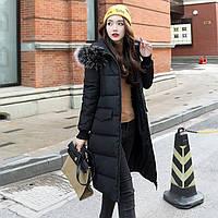 Женский молодежный зимний пуховик. С капюшоном. Модель 62168