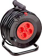 Удлинитель электрический на катушке 40 м с сечением 1,5 кв.мм