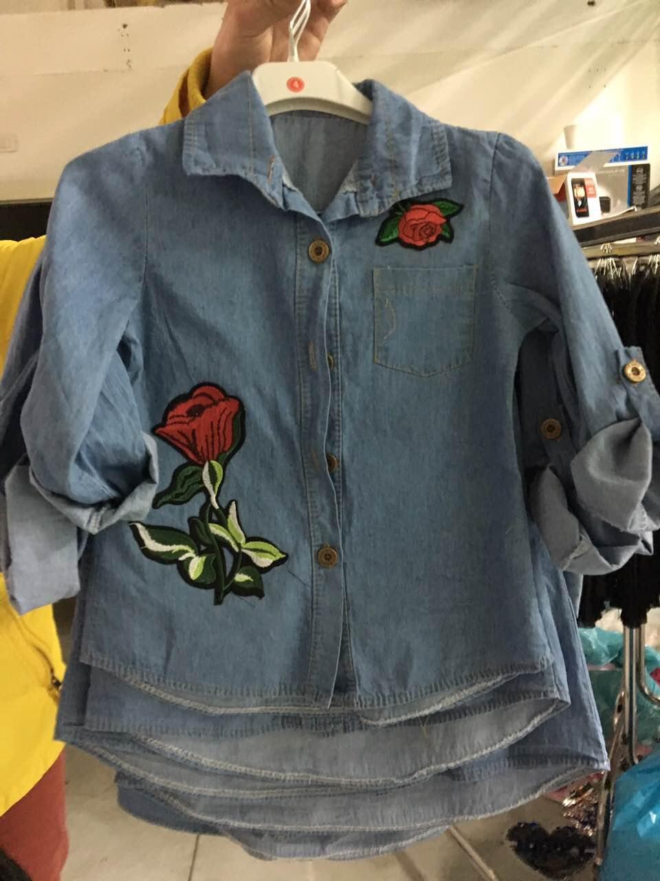 a336814c522 Джинсовая рубашка на девочку Италия 4-14 размер