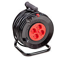 Удлинитель электрический на катушке 50 м с сечением 1,5 кв.мм