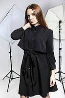 Платье-плащ (S. M. L. XL) —  костюмная диагональ купить оптом и в розницу в одессе  7км