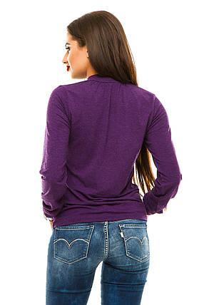 Водолазка кашемир 362 фиолетовая, фото 2